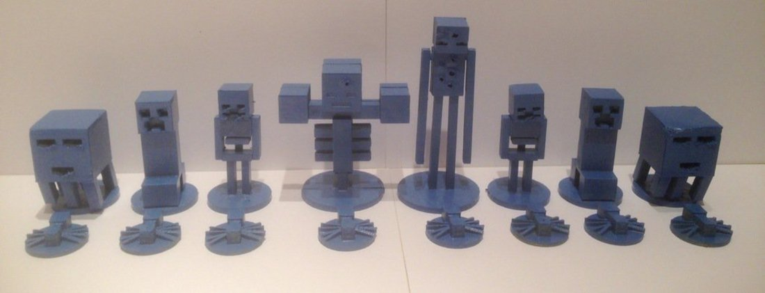 3d Printed Minecraft Chess By Jeremy8077 Pinshape