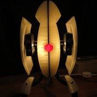 Small Portal Sentry Turret Desk Lamp 3D Printing 52036