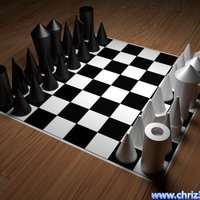 Small puristic chess-set, easy to print  3D Printing 52090