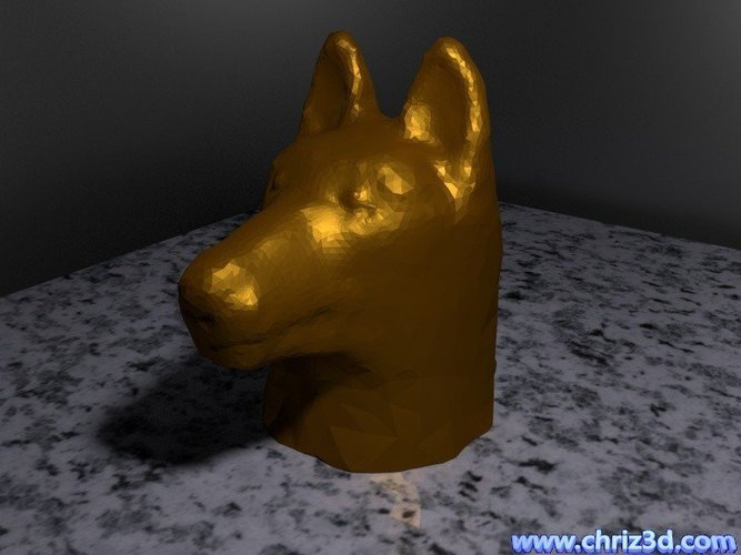German shepherd bust 3D Print 52094