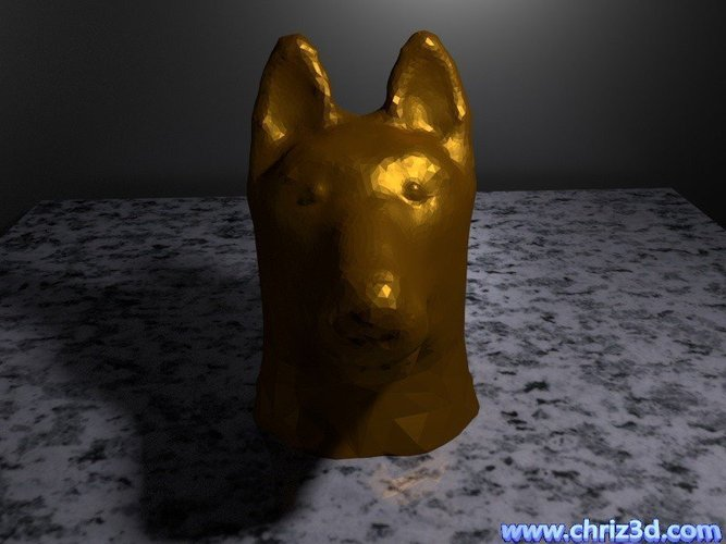 German shepherd bust 3D Print 52096