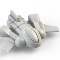 Small Spaceship 3D Printing 52173