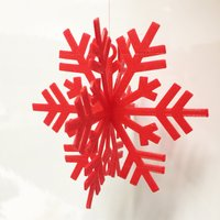 Small Snow Flake Ornament for your Christmas Tree 3D Printing 52210