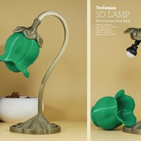 Small art nouveau lotus lamp 3D Printing 52343