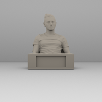 Small Scanned bust and reworked with stand 3D Printing 52396