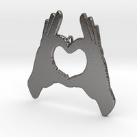 Small Hands Love Sign 3D Printing 52411