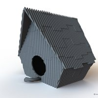 Small Ramshackle Birdhouse 3D Printing 52504