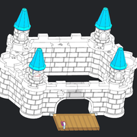 Small castle 3 3D Printing 5262