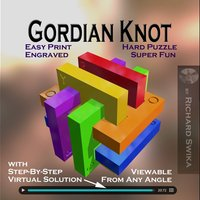 Small Gordian Knot Puzzle 3D Printing 52674