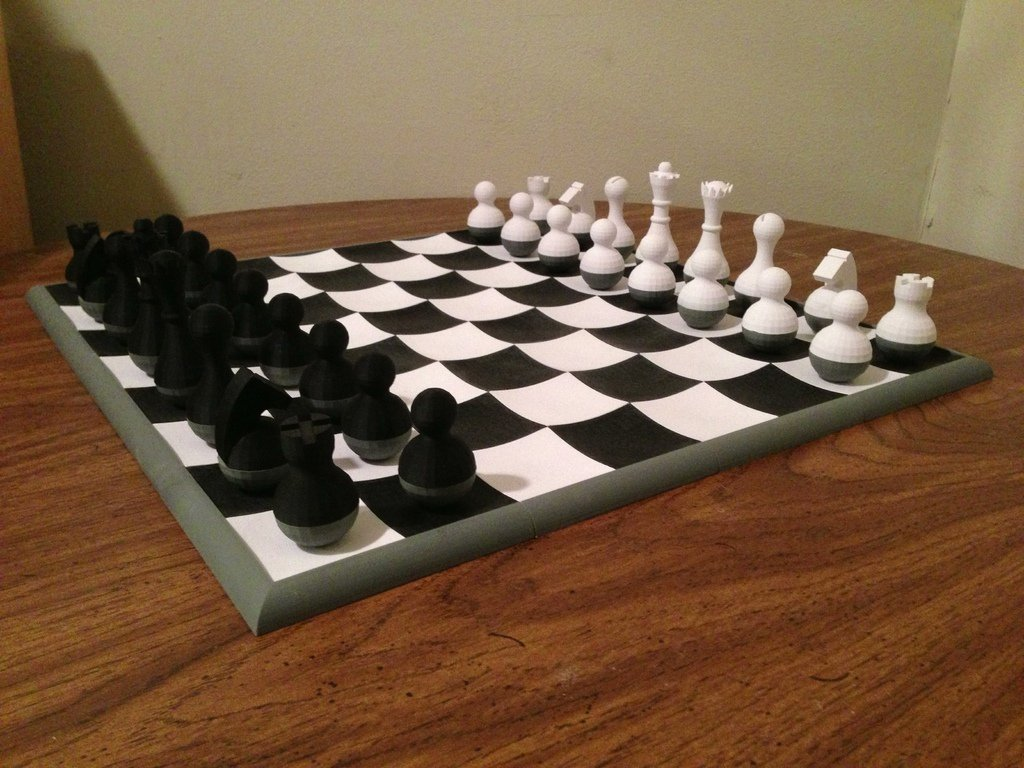 3d printed wobbly chess set by mikeyb | pinshape