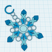 Small Snowflake Ornament  3D Printing 52810