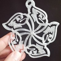 Small Redbird Snowflake Ornament 3D Printing 52836