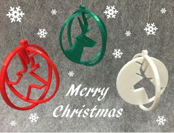 Medium Deer ring for Christmas 3D Printing 52863