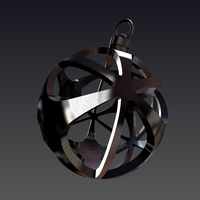 Small  Christmas ball circle star 3D Printing 52878