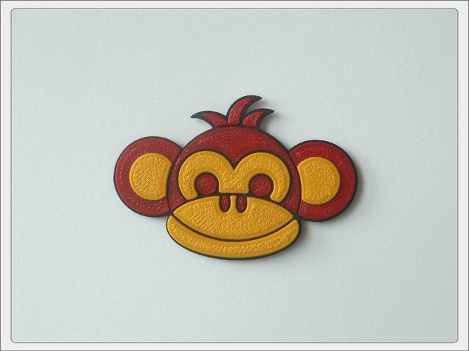 "Magnet ""Monkey Boy"" 3D Print 52889"