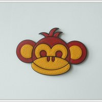 "Small Magnet ""Monkey Boy"" 3D Printing 52889"