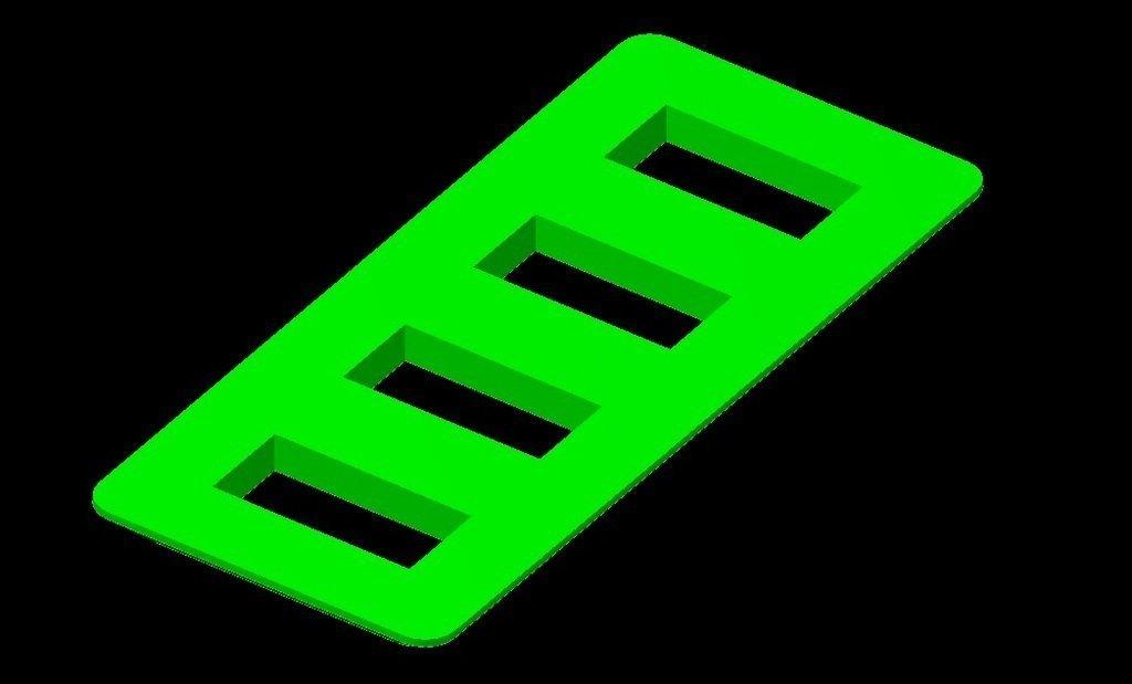 3D Printed 4x Usb port frame by robert karlsson | Pinshape