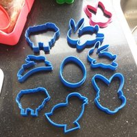 Small Bunny and Chicken for easter cookies 3D Printing 53331