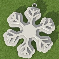 Small Snowflake Christmas decoration 3D Printing 53532