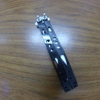 Small Microteck Tachyon II butterfly knife 3D Printing 53600