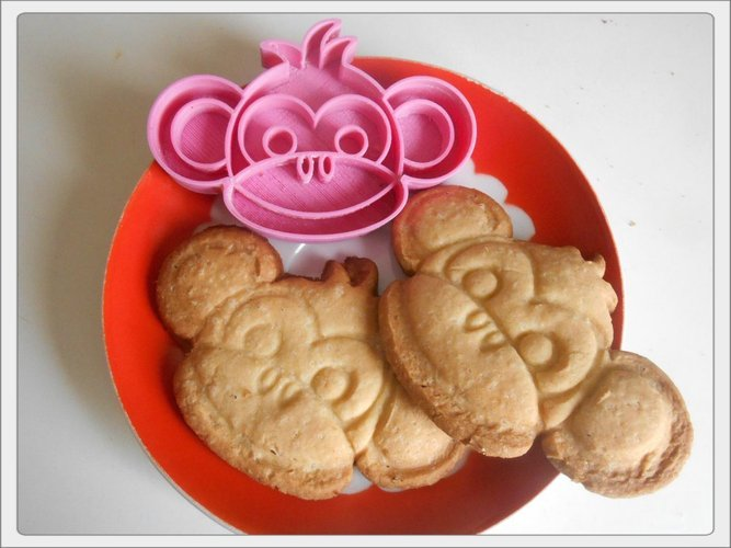 Cookies cutter Monkey boy 3D Print 53616
