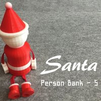 Small Person Bank - Santa 3D Printing 53642