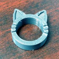 Small Cat Kitty Ring 3D Printing 53847