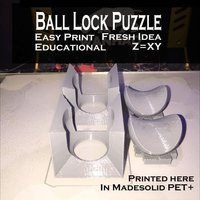 Small Ball Lock Puzzle 3D Printing 53857
