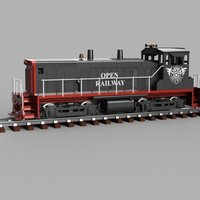 Small OpenRailway EMD SW1500 1:32 Locomotive 3D Printing 53971