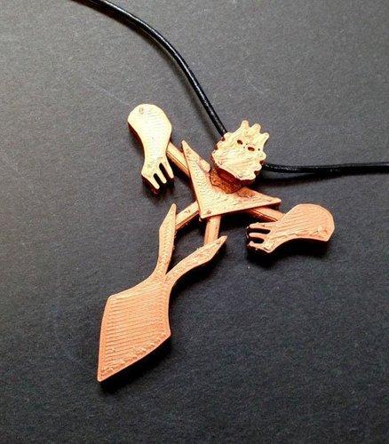 3d printed bionicle takanuva pendant by julia pinshape