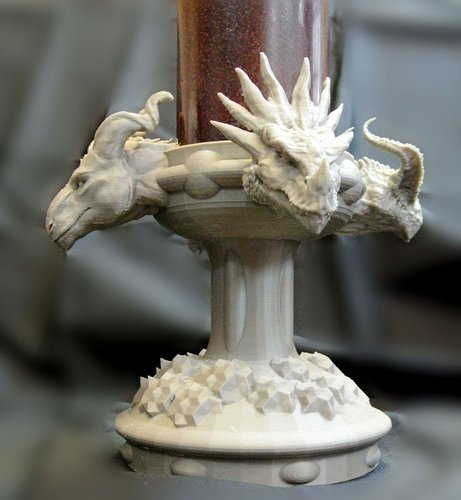 Four Dragons Candlestick 3D Print 54020