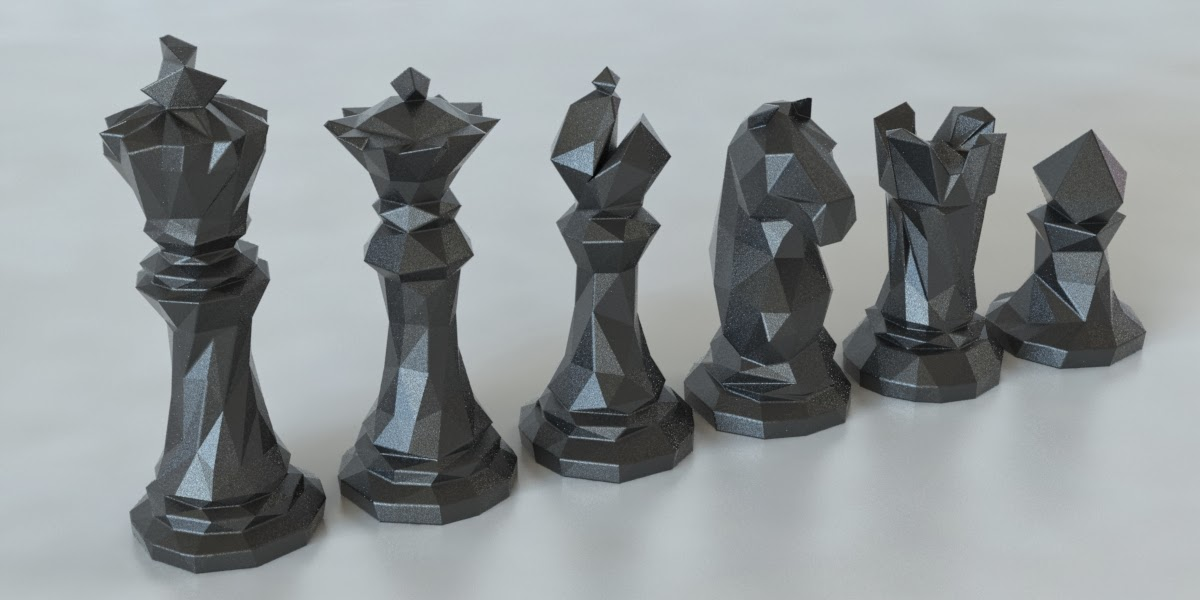image regarding Printable Chess Pieces named Faceted Chess Established @ Pinshape