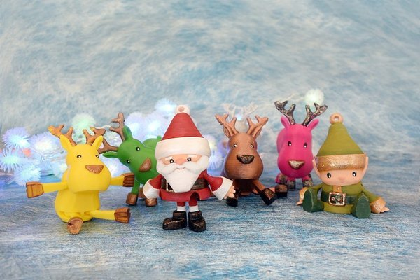 Medium Articulated Christmas Toys 3D Printing 54143