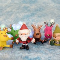 Small Articulated Christmas Toys 3D Printing 54143