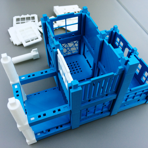 ​Printable Architectural Kit Series 2 3D Print 5416