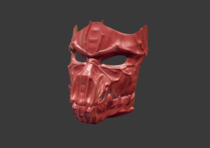 Dark Mask - Jointed 3D Print 54175