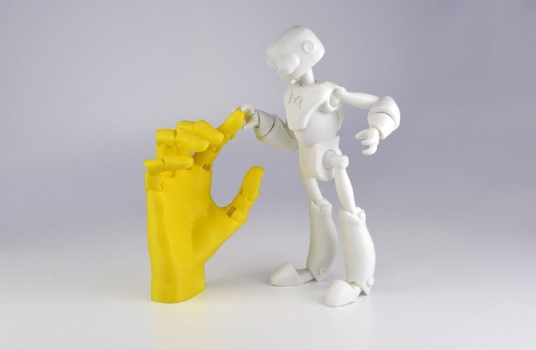 Jointed Hand 3D Print 54193
