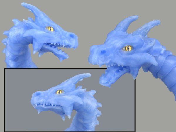 Medium Articulated dragon mouth 3D Printing 54195