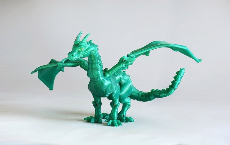"""Braq""  jointed dragon 3D Print 54200"