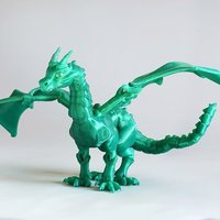 "Small ""Braq""  jointed dragon 3D Printing 54200"