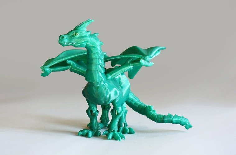 """Braq""  jointed dragon 3D Print 54201"