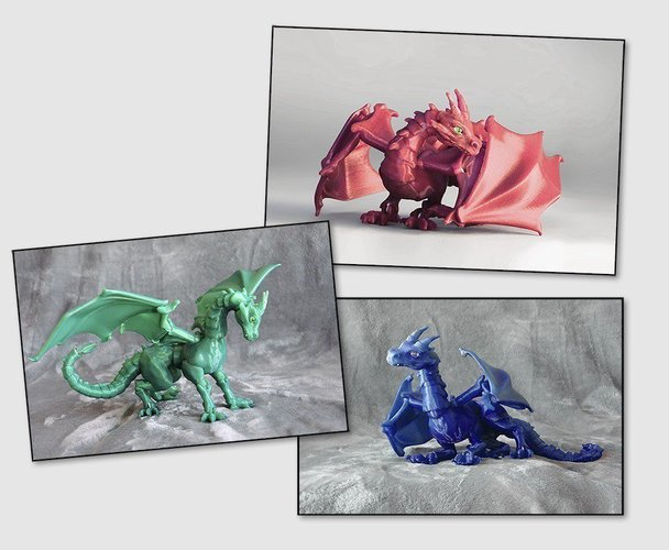 """Braq""  jointed dragon 3D Print 54202"