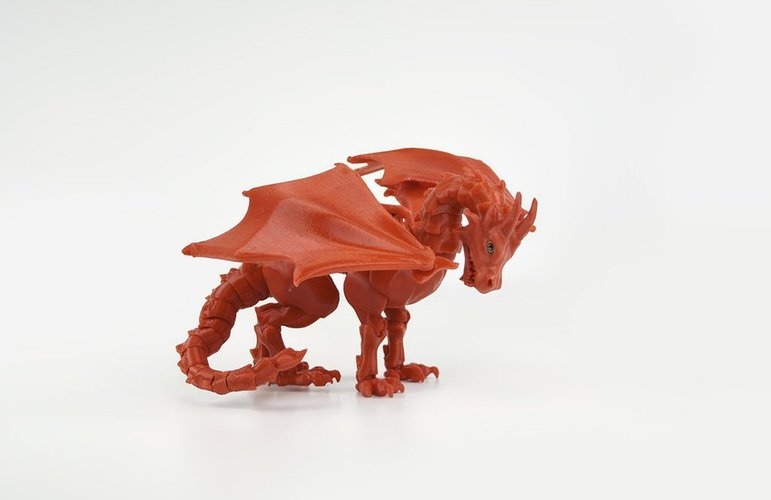 """Braq""  jointed dragon 3D Print 54204"