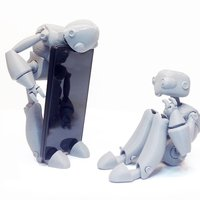 Small BeQui,  Jointed Robot 3D Printing 54233