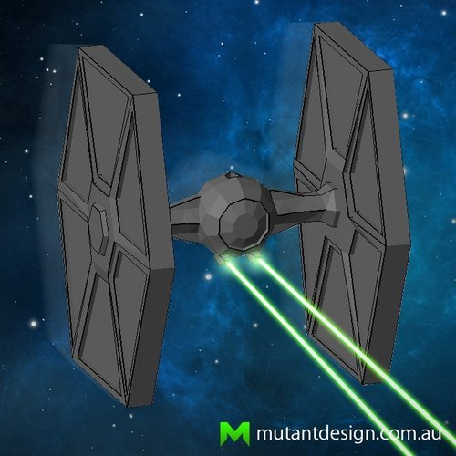 Low Poly Tie Fighter - Star Wars 3D Print 54358
