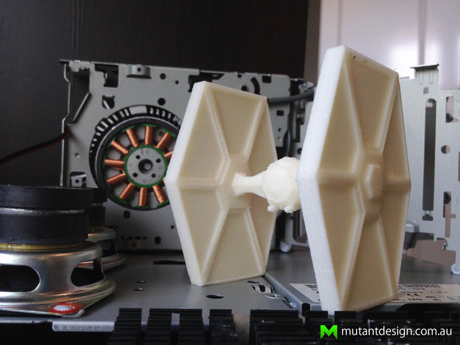 Low Poly Tie Fighter - Star Wars 3D Print 54363