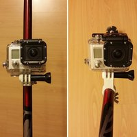 Small GoPro Ski Stick Mount 3D Printing 54387