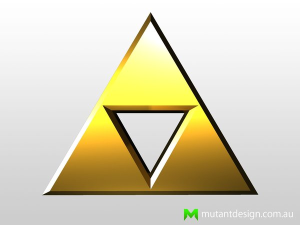 Medium Zelda Triforce 3D Printing 54427