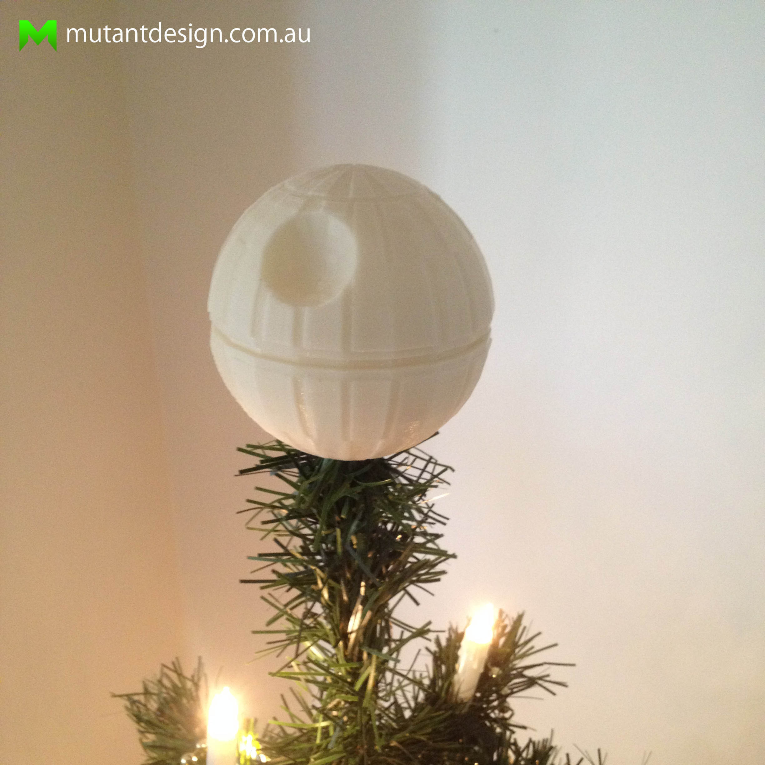 3D Printed Death Star Christmas Tree Topper - Star Wars by Mutant ...