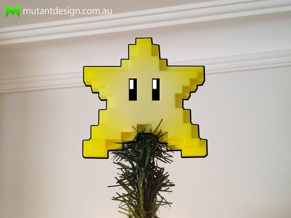 Medium 8-bit Christmas Star 3D Printing 54434